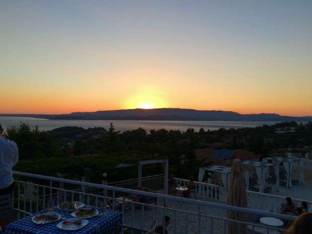 Sunset from Dionysos Village Hotel