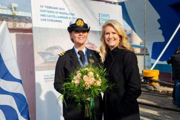 Jan Swartz and Madrina. Photo: Princess Cruises