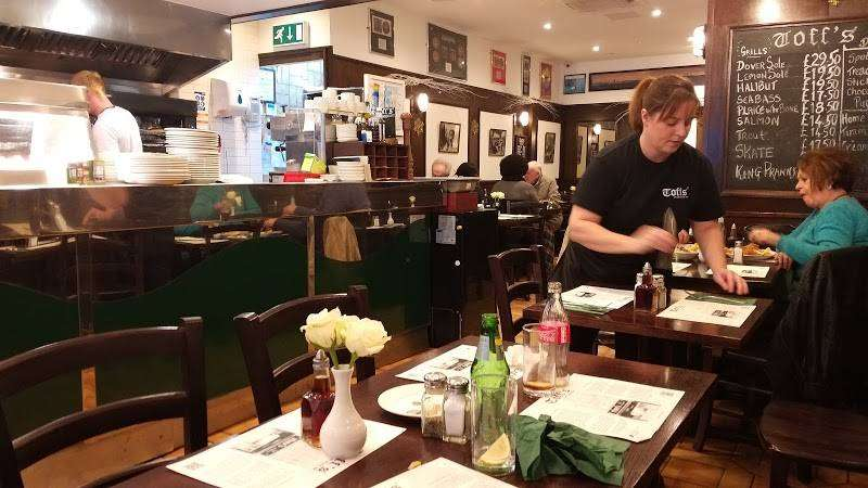 London fish and chip restaurant
