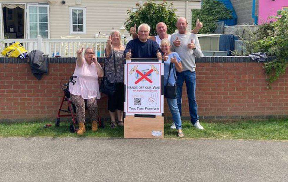 Skegness caravan owners take council to court